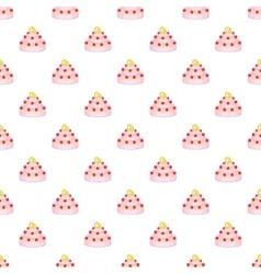 Wedding cake pattern cartoon style vector