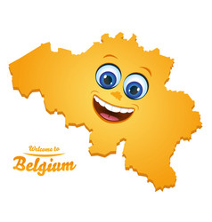 Welcome to belgium happy face map vector