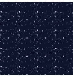 White snow falling on dark background vector image