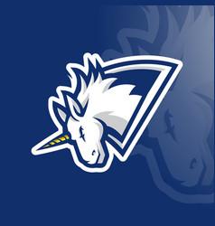 White unicorn esport vector