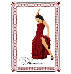 al 0304 flamenco poster 03 vector image vector image