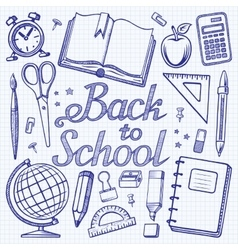 Back toschool doodle background vector image