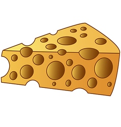cheesy slice vector image
