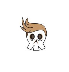cute skull vector image vector image