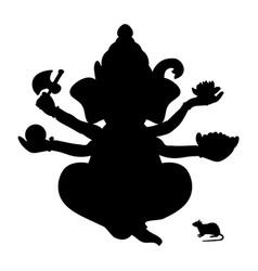 genesha silhouette traditional religion vector image