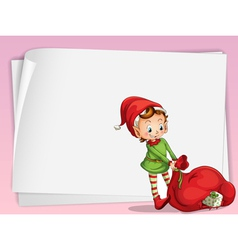 paper sheets and elve vector image vector image