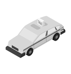 Taxi car icon in monochrome style isolated on vector image vector image