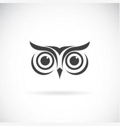 an owl face design on white background bird logo vector image vector image
