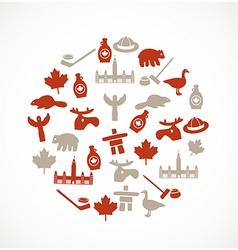 Canada symbols vector image vector image