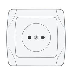 Electric household socket vector
