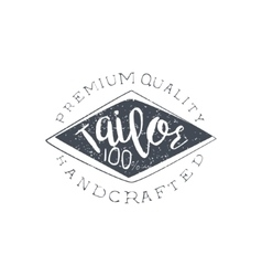 Handmade clothing vintage emblem vector