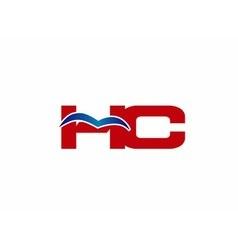 HC Logo Graphic Branding Letter Element vector image vector image