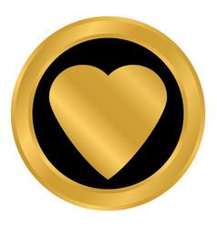 Love sign button vector