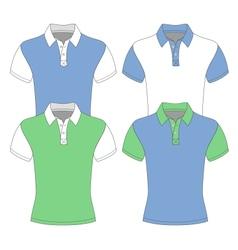 Mens short sleeve polo shirt vector