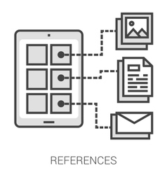 References line infographic vector