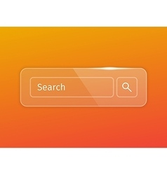 transparent glossy search button vector image vector image