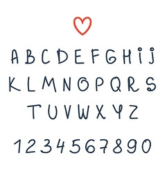 alphabet Hand drawn letters Font vector image