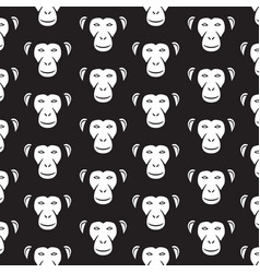 background pattern with monkey faces vector image vector image