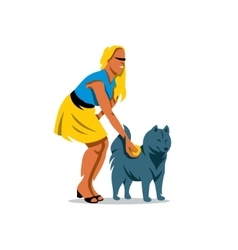 Dog Training Cartoon vector image vector image