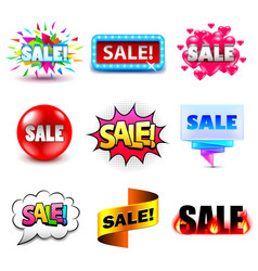 sale design titles icons set vector image