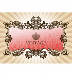 vintage glamour frame red vector image vector image