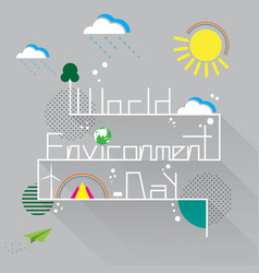 world environment day with eco and nature concept vector image vector image