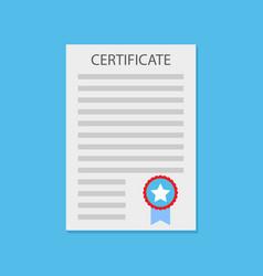 certificate diploma flat vector image