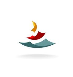 Falling paper sheets logo vector image vector image