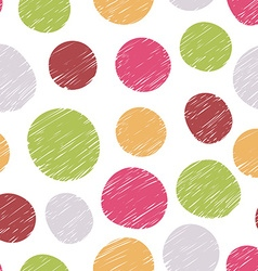 Hand drawn pattern from colorful circles vector image vector image
