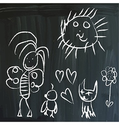 Message on a blackboard vector image