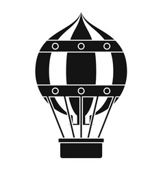 old fashioned helium balloon icon simple style vector image