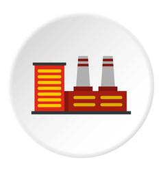 Power plant icon circle vector