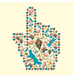 Spring social media hand cursor vector image vector image