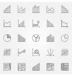 Statistics icons set vector image