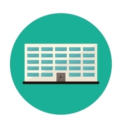 symbol city office building line sticker vector image