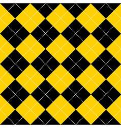 Yellow Black Diamond Background vector image