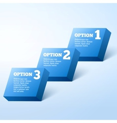 3D Progress background product choice or versions vector