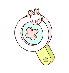 A magnifying glass vector