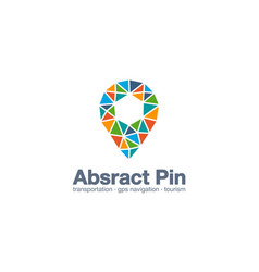 Abstract business company logo map pin gps vector