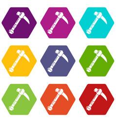 ax icons set 9 vector image