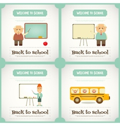 Back to School Mini Posters vector image