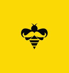 Bee daddy creative logo vector