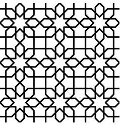 black and white geometric seamless pattern in vector image