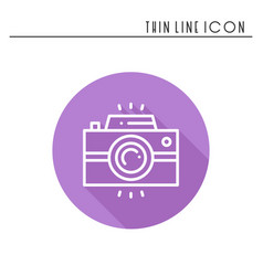 camera line outline icon photo camera photo vector image