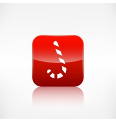 Candy cane web icon Application button vector