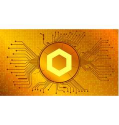chainlink link cryptocurrency token symbol gold vector image