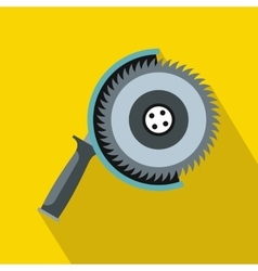Circle saw icon flat style vector image