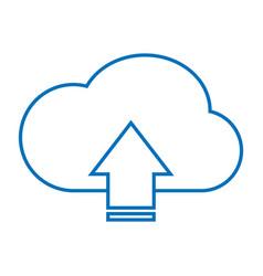 cloud upload storage vector image
