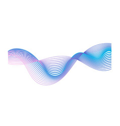 Colorful gradient sound wave isolated on white vector