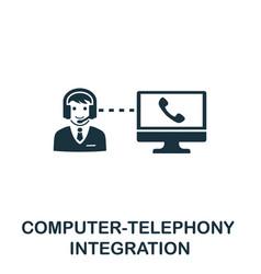 computer-telephony integration icon symbol vector image